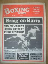 BOXING NEWS FEBRUARY 1 1985 ROCKY LOCKRIDGE DEFEATS KAMEL BOU ALI