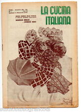LA CUCINA ITALIANA 1941 - n.3 - cucina gastronomia ricette regionali fascismo