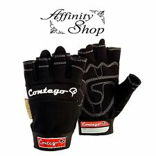 Contego Fingerless Gloves Mechanic Style Hand Protection Glove P8174a Any Size Small