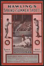1928 RAWLINGS Spring & Summer Sports Catalog