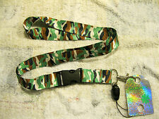 """Military/Army Green and White Camo/Camouflage 15"""" Lanyard-Brand New with Tags!!!"""