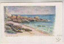 Cornwall postcard - Rocks at St Ives - P/U 1908 (A1332)
