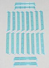 LEGO LOT OF 20 TRANSPARENT LIGHT BLUE GARAGE DOOR PANEL PARTS