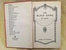 "BULLDOG DRUMMOND: THE BLACK GANG - Cyril McNeile - ""Sapper"" 1936 Hardcover"