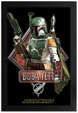 STAR WARS BOUNTY HUNTER BOBA FETT 13x19 FRAMED GELCOAT POSTER CLASSIC ICON MOVIE