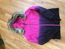 Lululemon Size 8 NWT Pink Purple Ombré Scuba Hoodie Special Edition Faux Fur