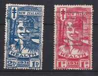 NZ35) New Zealand 1931 Smiling Boys, SG 546/7. Nice commercially used