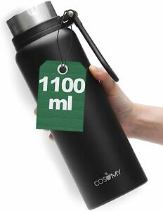Thermosflasche 1L mit Griff Edelstahl Thermo Iso Flasche Isolier Bottle Kanne