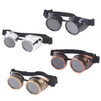 Vintage Victorian Goggles Glasses Welding Cyber Punk Gothic Cosplay JF