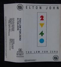Cassette - Elton John, Too Low For Zero - 1983 Rocket Record 811052-4