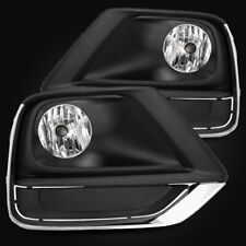 For 17-19 Chevy Trax LH/RH Clear Fog Lights Bumper Driving Lamps Replacement Set