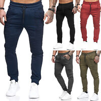 MENS SKINNY JOGGING BOTTOMS SLIM FIT JOGGERS TRACKSUIT PANTS GYM SWEATS WINTER