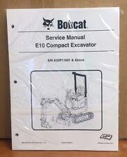 Bobcat E10 Compact Excavator Service Manual Shop Repair Book Part # 6986788