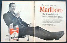 1950s Marlboro Cigarettes Original VTG Print Ad Tuxedo