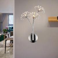 Crystal Dandelion LED Wall Lamp Bedside Light For Hallway Dining Bedroom Decor