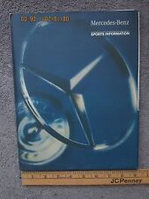 Mercedes Benz Indy Car Racing Media Kit & Photos - Vintage 1996