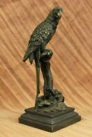 Rare Vintage Vienna Bronze Parrot/Cockatoo Inkwell - American Artist Williams