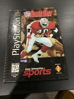 NFL GameDay (Sony PlayStation 1, 1996) Long Box PS1 Complete! TESTED Free Ship