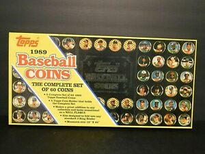 Topps 1989 Baseball Coins Complete Set of 69 Coins in Original Box