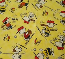 All Stars Peanuts BTY Quilting Treasure Charlie Brown Lucy Snoopy Linus Baseball