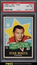 1968 O-Pee-Chee Hockey Stan Mikita ALL-STAR #202 PSA 8 NM-MT