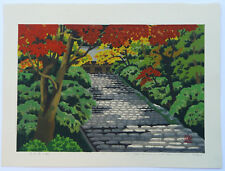 LTD EDD SIGNED JAPANESE WOODBLOCK PRINT MASAO IDO ENTRANCE TO MURO-JI TEMPLE