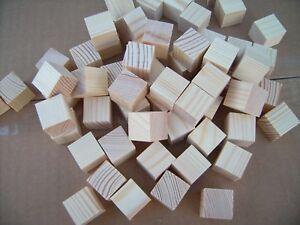 50x Wood cubes. Wooden cubes / blocks.20mm  PINE not Birch. Minecraft FREE P&P