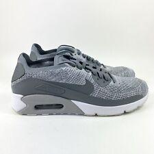 Nike Air Max 90 Ultra 2.0 Flyknit Sz 9.5 Cool Grey Mens Shoes 875943-003 No Lid