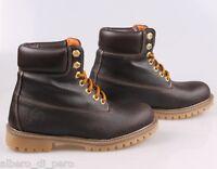 Boots donna stivaletti in pelle moro (made in italy manifattura artigianale)