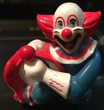 Vintage 'Superior Toy' Plastic Gum Ball Holder Toy/Figure•Bozo the Clown & Drum