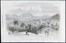 1869 ANTIQUE PRINT-Caribbean Cuba Pan de Guajaibon circa de las POSAS (084)