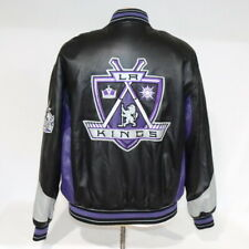 Vintage G-III Carl Banks NHL Los Angeles Kings Leather Embroider Jacket Black M