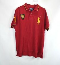 Polo Ralph Lauren Mens XL Custom Fit Russia Big Pony Short Sleeve Collared Shirt