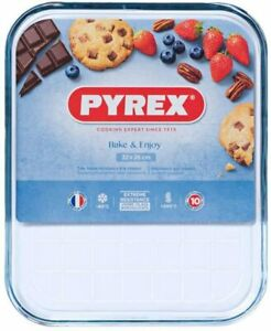 Pyrex Baking Tray Transparent Scratch Resistant Glass, multipurpose Tray