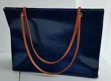 Leporello * Damen-Handtasche * blau