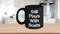 Boater Mug Black Coffee Cup Funny Gift for Captain, First Mate, Sailor, Shipper,
