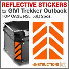 2 Rifrangenti Strisce Aranci compatibile con GIVI Trekker Outback TOP CASE