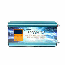 "20000W/5000W LF Pure Sine Wave Power Inverter 12V DC/230V AC 3.5""LCD/UPS/Charger"