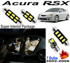 7 Bulbs Xenon White LED Interior Dome light Kit Package For Acura RSX 2002-2006