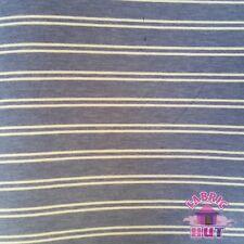 Jersey Knit Polyester Poly Spandex Light Blue Stripe Fabric by the Yard