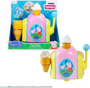 Tomy Toomies Peppa Pig Peppa's Bubble Bathtime Bath Toy Ice Cream Maker Playset