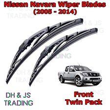 "(05-14) Front Wiper Blades For Nissan Navara Windscreen 24"" 19"" Hook Type Wipers"