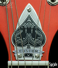 """SPADE"" 100% Brass Truss Rod Cover. Fits most Gretsch® style guitars."