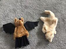"""8"""" Bat Hand Puppet & 10"""" Ferret Hand Puppet"""