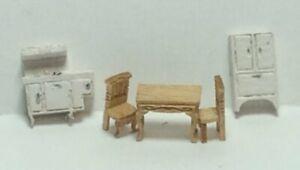Dollhouse Miniature 1:144 Sale Victorian Kitchen Furniture  Kit (5Pcs)