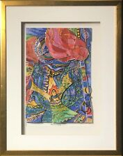 """Burning Bush"" by Raphael Abecassis (Framed Fine Art Collage Abstract Decor)"
