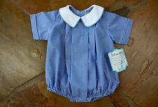 NEW Remember Nguyen Blue Gingham Bubble 12 mths Boys 4th of July