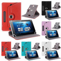 "360° Universal Leather Case Cover Stand For 7"" 8"" 9"" 10"" 10.1"" Android Tablet PC"