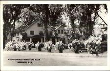 Meredith NH Winnipesaukee Homestead Farm in Winter Real Photo Postcard