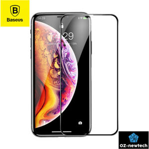 Apple iPhone X XS MAX XR Full Screen Tempered Glass Protector Baseus Premium